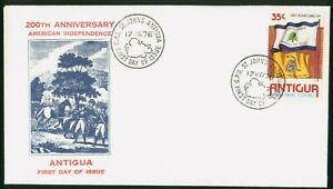 Mayfairstamps Antigua FDC 1976 Amer Indep Liberty Tree Rattle Snake Flag First D