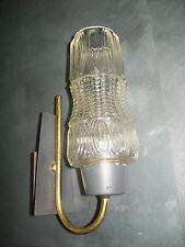 ANCIEN APPLIQUE LAMPE MODERNISTE Métal Laiton CÔNE VERRE DESIGN 50 60 VINTAGE