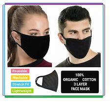 Face Masks Washable Uk Breathable Cotton Unisex Reusable Protection Face Mask