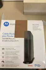 Motorola MG7540 Wi-Fi AC1600 Dual-Band Router with 16 x 4 Cable Modem Black