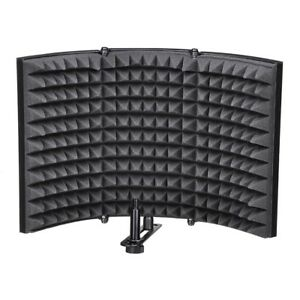 Studio Microphone Isolation Shield Soundproof Filter Vocal Recording Foam Panel