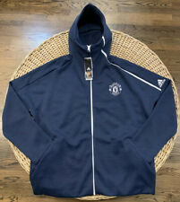 Manchester United Adidas Z.N.E. Full-Zip Hoodie CY6102 Men's Size 2XL Navy Blue