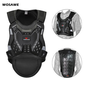 Motorcycle Chest Protector Vest Motocross BMX Racing Back Spine Support Guards