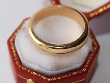 18ct 750 yellow gold 4mm wide wedding ring size M 5.80 grams