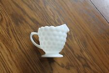 Vintage 6oz. Anchor Hocking bubble pattern white milk glass creamer