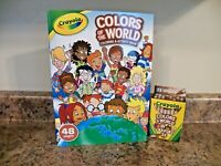 New Crayola Colors Of The World Coloring Activity Book w Multicultural Crayons