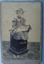 VINTAGE REAL CAMERA BLACK & WHITE PHOTOGRAPH OF INDIAN BABY GIRL WITH HER DOLL