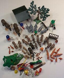 Playmobil Waldtiere, Rehe, Wildschweine, Füchse, Förster, Waldarbeiter usw.