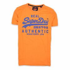 Superdry Herren T-Shirt Shirt Classic Gr.L (wie M) Vintage Orange Gelb 93847
