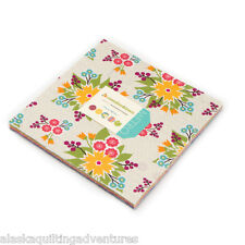 """Moda FABRIC Layer Cake ~ MEADOWBLOOM ~ by April Rosenthal 42 - 10"""" squares"""