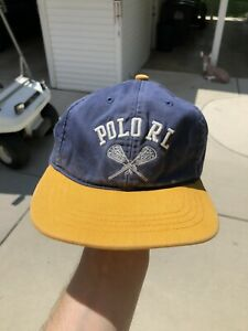 Vintage Polo Ralph Lauren Lacrosse Strapback Hat Cap Sports New York RARE