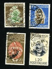 1950 ITALY Stamps Sct #545-548 All:  Used, H