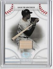 WILLIE MAYS 2008 DONRUSS THREADS GAME USED BAT CARD # 21/50