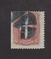 United States stamp #88, used, E Grill, Blue Cancel, SCV $35.00