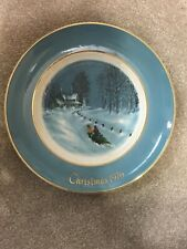 "Vintage Avon 1976 Christmas Plate ""Bringing Home the Tree"" Enoch Wedgewood"