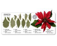 Jem NATALE Poinsettia Sugarcraft Cutter Set Next Day Spedizione