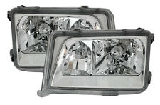 Clear chrome finish headlight set with NSW for Mercedes E-Class W124 93-95