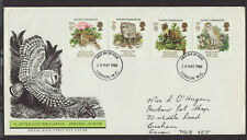 Great Britain 1986 FDC - Nature Conservation - with 4 stamps
