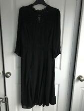 Monsoon black dress with underskirt/dress - size 14