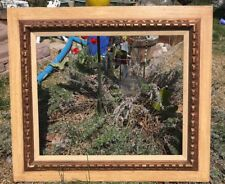 Vintage Mid Century Large Wood Gold Wooden Picture Frame  32 X 28 Fit 24 X 20