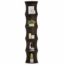 Strong Hardwood Corner Shelf Wall Shelves 5 Tier Display Free Stand Home Decor