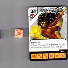 DICE MASTERS AMAZING SPIDER-MAN COMMON #70 SPIDER-WOMAN BIO-ELECTRIC