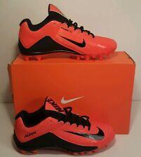 New Nike Alpha Strike 2 TD Low Football Cleats sz 9.5 Orange Black 725229-800