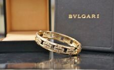 Bulgari 18kt Yellow Gold & Diamond Parentesi Bangle Bracelet, ALL BOXES, MINT!