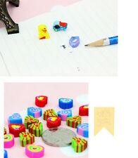 25X Mini Lovely Cartoon Fruit Rubber Pencil Eraser for Children School Gifts