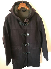HENRI LLOYD DUFFEL COAT! MENS S/M! BROWN! WOOL! JACKET! 44-46 CHEST! HL!