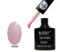 BLUESKY NAIL POLISH COLOUR 80546 GRAPEFRUIT SPARKLE UV/LED SOAK OFF GEL 10ML