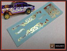 "1/64 '55 Chevy ""Metallic Flames"" Gasser  Custom Decal SCR-0069"