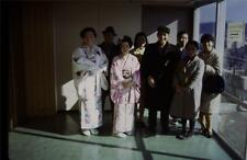 35mm Colour Slide- Japanese Girls in Traditional Dress with Family  -Japan  1968