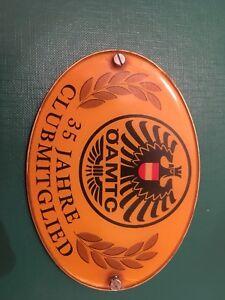Autoplakette, 35 Jahre Clubmitglied Öamtc, car badge, Oldtimerplakette
