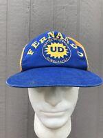 Vintage Fernando Spanish Campaign Hat Cap Democrat Blue Yellow SnapBack