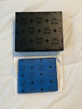 MCM Wallet Bifold Blue Used Once