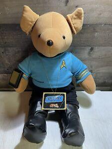 "Bear Trek Mr Spock VIB North American Bear Company 21"" Tall Vintage New w/ Tag"