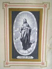 ANCIENNE IMAGE PIEUSE CHRIST EN TISSU