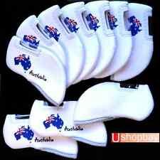 Australian Iron Covers Golf Tour Clubs x 10 pc Gift Set BN White Color