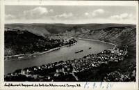 Boppard am Rhein alte Postkarte 1964 gelaufen Blick auf Boppard und Campa Rhein