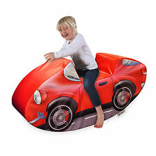 Implay Soft Play PVC Foam Children's Bright Red Car Rocker Activity Toy