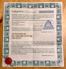 Certificato Rolex Daytona Cosmograph 6263 Submariner Explorer 1680 1655 #8040369