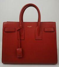 Saint Laurent Leather Sac De Jour Satchel Shoulder Handbag Red Small