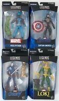 Marvel Legends Series BAF Bundle Avengers Capt America Loki Rock Python CitizenV