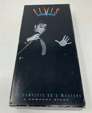 ELVIS PRESLEY 5 CD BOX SET W/BOOKLET &  COLLECTABLE STAMPS COMPLETE 50's MASTERS