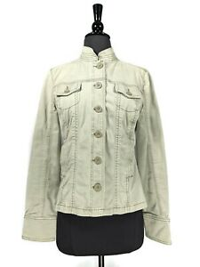 Lucky Brand Green Washed Denim Button Front Jacket Size S
