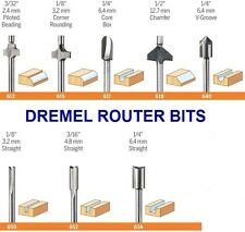 "NEW DREMEL ROUTER BIT 8 SET 1/8"" SHANK HIGH SPEED STEEL ROUTER BIT SET"