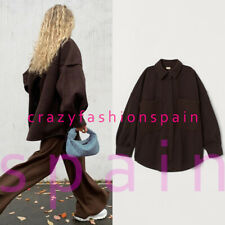 H&M NWT Brown Oversized Shirt Jacket ALL SIZES 0928158003