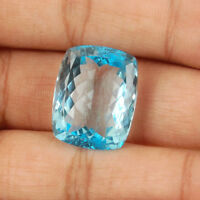 VVS 38.50 Cts Natural Blue Topaz AAA Premium Swiss Color Certified Gemstone
