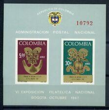 Colombie 1967 Mi. Bl. 28 Bloc Feuillet 100% ** SEAC